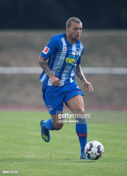Test match Hertha BSC vs Dukla Prague Hertha's Alexander Esswein in action Photo Soeren Stache/dpa