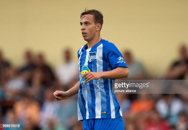 Test match Hertha BSC vs Dukla Prague Hertha's Maximilian Pronichev in action Photo Soeren Stache/dpa