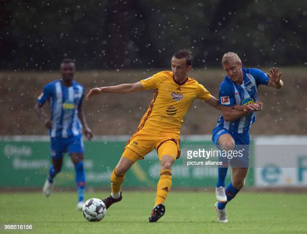 Test match Hertha BSC vs Dukla Prague Hertha's Per Skjelbred in action against Prague's Daniel Tetour Photo Soeren Stache/dpa