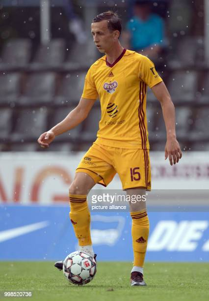 Test match Hertha BSC vs Dukla Prague Prague's Daniel Tetour in action Photo Soeren Stache/dpa