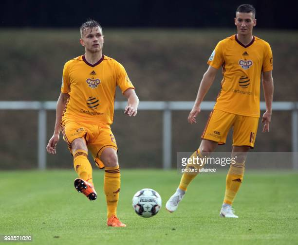 Test match Hertha BSC vs Dukla Prague Prague's David Breda and Lukas Holik in action Photo Soeren Stache/dpa