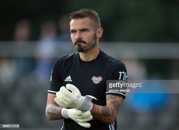 Test match Hertha BSC vs Dukla Prague Prague's goalkeeper Filip Rada in action Photo Soeren Stache/dpa