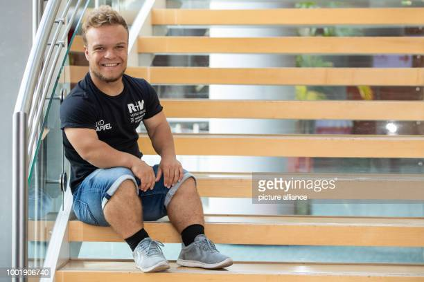Paralympic champion in shot put Niko Kapel during a press conference on the occasion of the German athletic championships on the 21 and 22 July Photo...