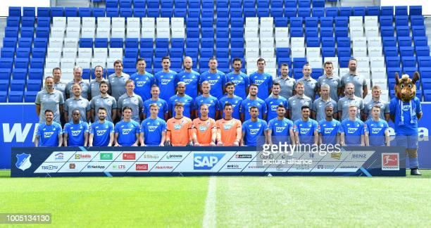 Soccer Bundesliga photo shoot TSG 1899 Hoffenheim for the 2018/19 season at the RheinNeckarArena The team of TSG 1899 Hoffenheim Leonardo Bittencourt...