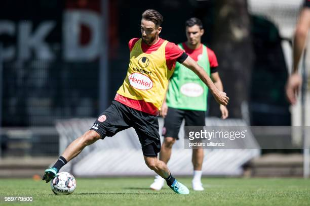 Soccer Bundesliga Fortuna Duesseldorf start of training Fortuna newcomer Kenan Karaman with the ball Photo Marcel Kusch/dpa