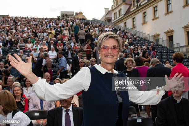 Gloria von Thurn und Taxis during the opening of the ThurnundTaxis Palace Festival with the opera piece Tosca in the inner courtyard of the count's...