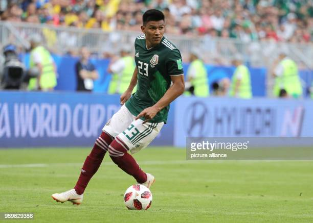 Soccer World Cup 2018 Final round round of 16 Mexico vs Brazil at the Samara stadium Mexico's Jesus Gallardo in action Photo Christian Charisius/dpa