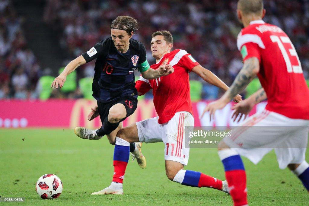 World Cup 2018 - Russia vs Croatia : News Photo