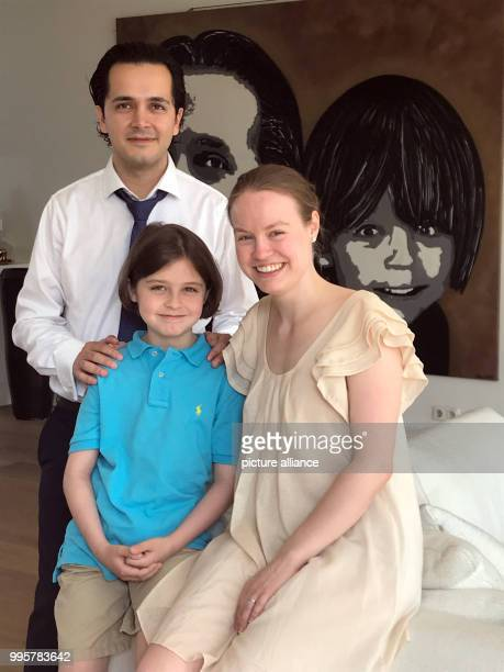 The eight year old Laurent Simons with his parents Lydia and Alexander highly gifted genuis child prodigy The BelgianDutch boy is already being...