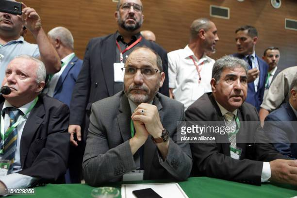 Abderrazak Makri leader of the Movement of Society for Peace Islamist party attends the National Forum for Dialogue an opposition meeting of...