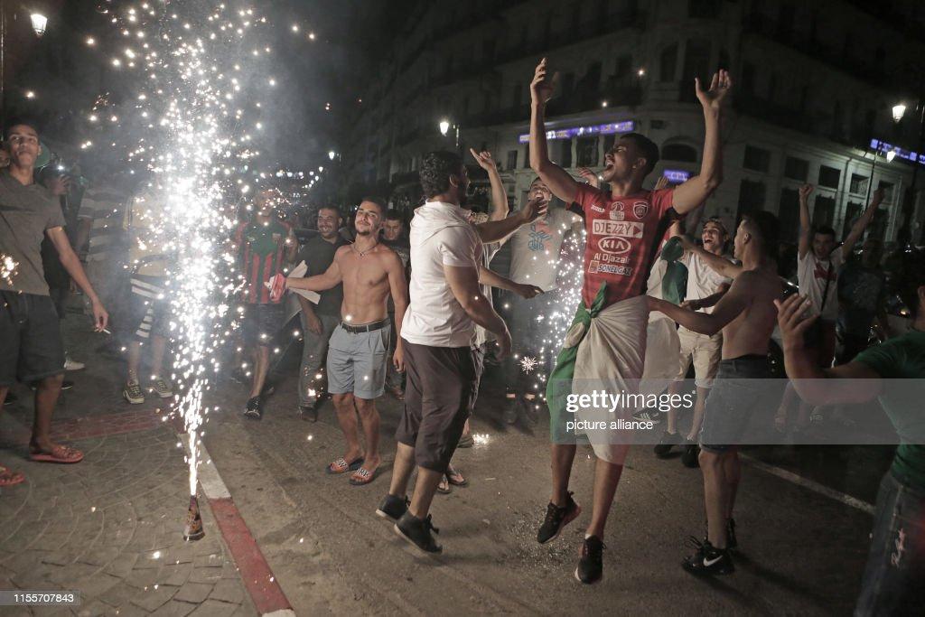 CAN 2019 celebrations in Algeria : News Photo