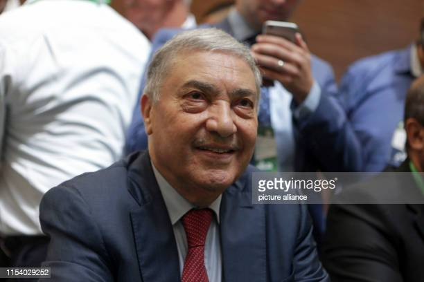 July 2019, Algeria, Algiers: Ali Benflis, President of Talaie El Hourriyet party, attends the National Forum for Dialogue, an opposition meeting of...