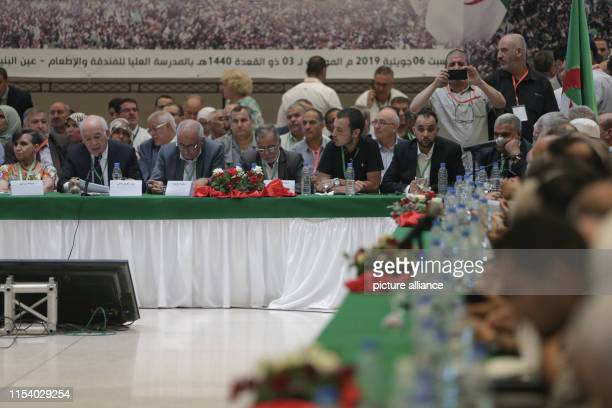 Members of political parties representatives of the civil society and national personalities attend the National Forum for Dialogue opposition...