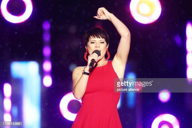 Francine Jordi singer appears at the dress rehearsal for the folk music show Wenn die Musi spielt The Open Air Show will be broadcast live on ORF and...