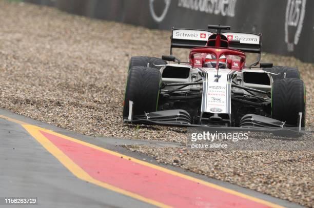 28 July 2019 BadenWuerttemberg Hockenheim Motorsport Formula 1 World Championship Grand Prix of Germany The car of Kimi Räikkönen from Finland from...