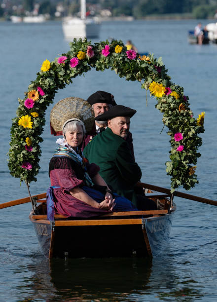 DEU: Mooser Water Procession Across Lake Constance