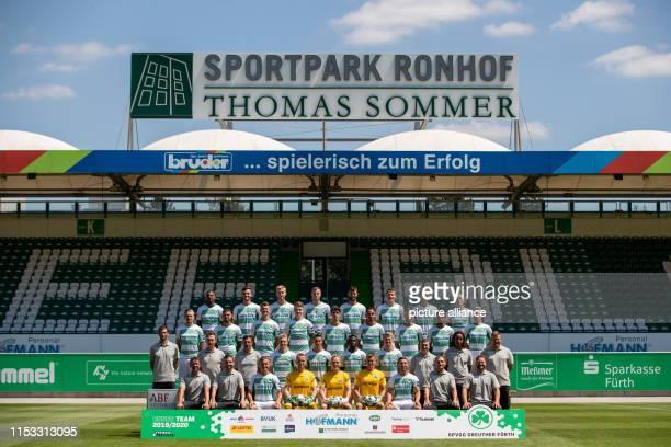 Soccer 2nd Bundesliga Fototermin SpVgg Greuther Fürth for the season 2019/20 at the Sportpark Ronhof Thomas Sommer Goalkeeping coach Christian...