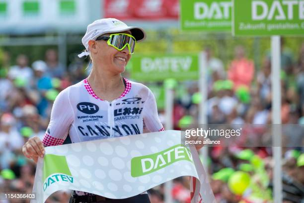 Sarah Crowley triathlete from Australia finishes second in the Datev Challenge Roth In the 18th edition of the triathlon the participants had to swim...