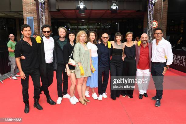 Before the world premiere of the film Standing Still are the musicians Philipp Thimm and Sascha Ring von Apparat the actor Torben Krämer the actress...