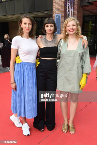 Before the world premiere of the film Stillstehen the actress Natalia Belitski the author and director Elisa Mishto and LuisaCéline Gaffron will be...