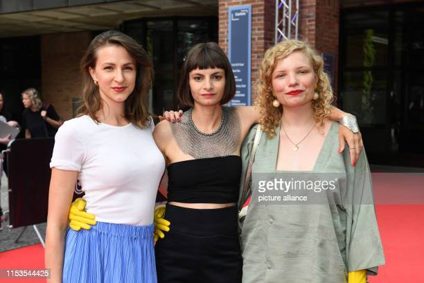 Before the world premiere of the film Stillstehen the actors Natalia Belitski the author and director Elisa Mishto and the actress LuisaCéline...