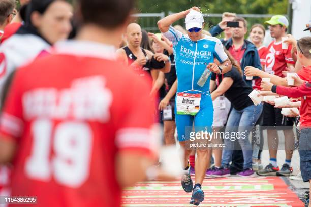Andreas Dreitz triathlete from Germany leaves the transition zone at the Datev Challenge Roth for the running stage In the 18th edition of the...