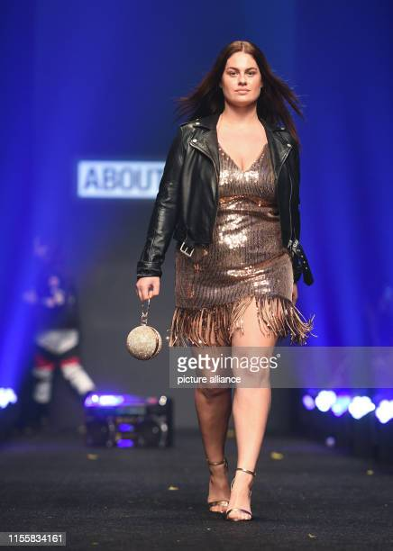 A model goes down the catwalk at the show About You The collections for Spring/Summer 2020 will be presented at Berlin Fashion Week Photo Britta...