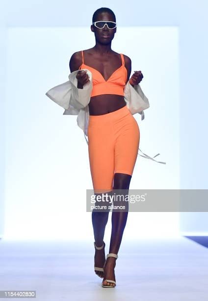 A model shows a creation of the label Leger by Lena Gercke at the About You Fashion Week at EWerk The collections for Spring/Summer 2020 will be...