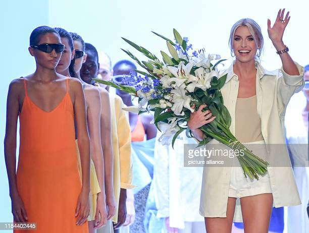 After the fashion show of her label Leger by Lena Gercke Lena Gercke presents herself on the catwalk of the EWerk as part of the About You Fashion...