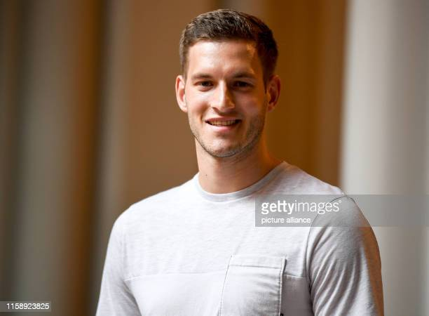 Bernhard Seifert, javelin thrower, is at the press conference for the Finals 2019. The German Championships in ten sports will take place for the...