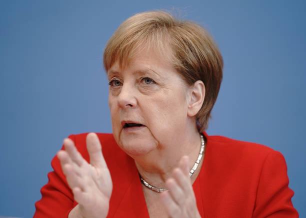 DEU: Press Conference With Chancellor Angela Merkel
