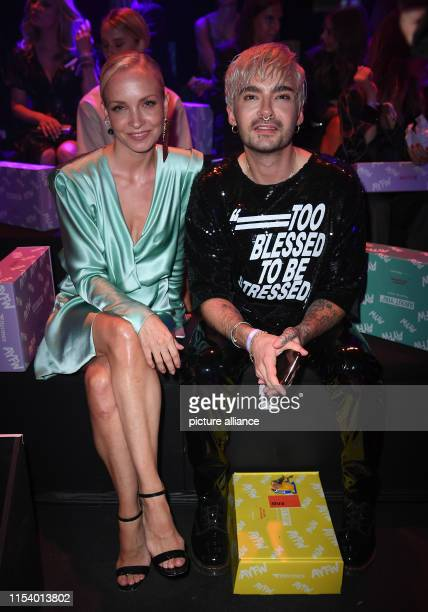 Janin Ullmann actress and Bill Kaulitz musicians watch the show About You The collections for Spring/Summer 2020 will be presented at Berlin Fashion...