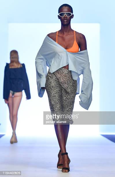 Models show creations of the label Leger by Lena Gercke at the About You Fashion Week at EWerk The collections for Spring/Summer 2020 will be...