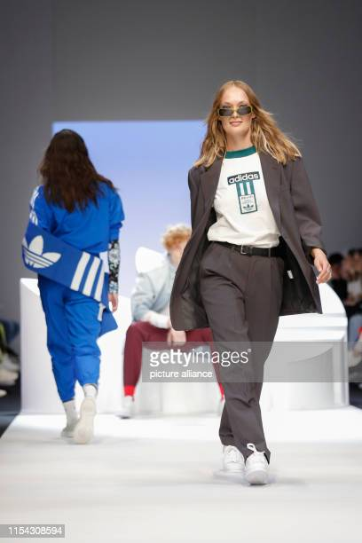 Models show fashion at the Adidas Show during the About You Fashion Week at the EWerk in Berlin The collections for Spring/Summer 2020 will be...