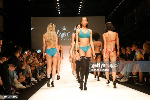Models show fashion at the Lascana Fashion Show during the About You Fashion Week at the EWerk in Berlin Collections for Spring/Summer 2020 will be...