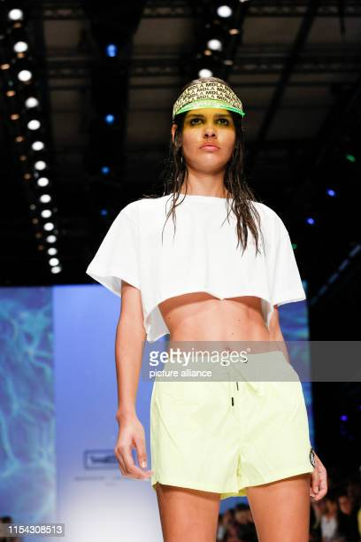 Models show fashion at the MDLA by Bill Kaulitz during the About You Fashion Week at the EWerk in Berlin Collections for Spring/Summer 2020 will be...