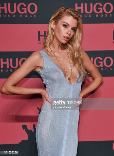 The British model Stella Maxwell comes as a guest to the show of the label HUGO in the Wriezener Karree The collections for Spring/Summer 2020 will...