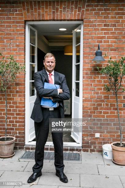 July 2019, Brandenburg, Potsdam: Christian Görke , finance minister of Brandenburg and deputy prime minister, after the balance sheet-Pk of the...