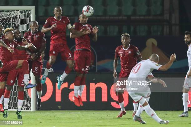 July 2019, Egypt, Cairo: Madagascar players in action during the 2019 Africa Cup of Nations quarter final soccer match between Madagascar and Tunisia...
