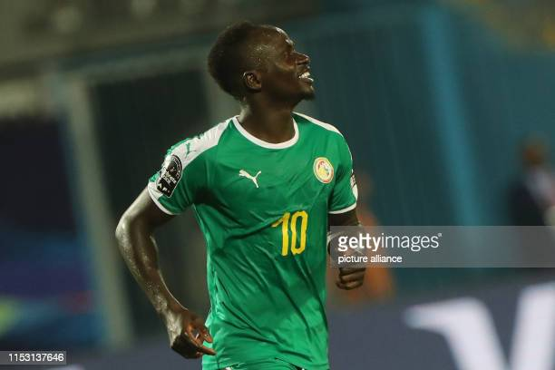 July 2019, Egypt, Cairo: Senegal's Sadio Mane celebrates scoring his side's second goal during the 2019 Africa Cup of Nations Group C soccer match...