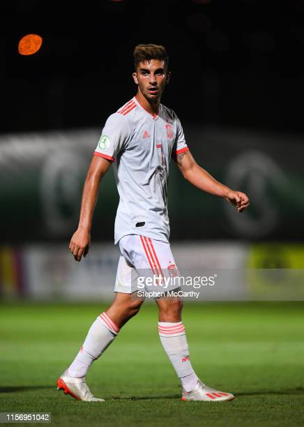 July 2019 Ferran Torres of Spain during the 2019 UEFA European U19 Championships group A match between Spain and Italy at the FFA Academy Stadium in...