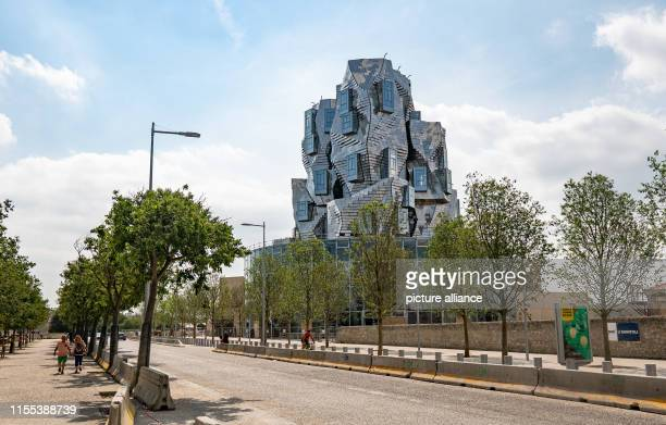 July 2019, France , Arles: The LUMA Arles Cultural Center, designed by Canadian-American architect Frank Gehry, is a 56-meter-high, shiny tower. The...