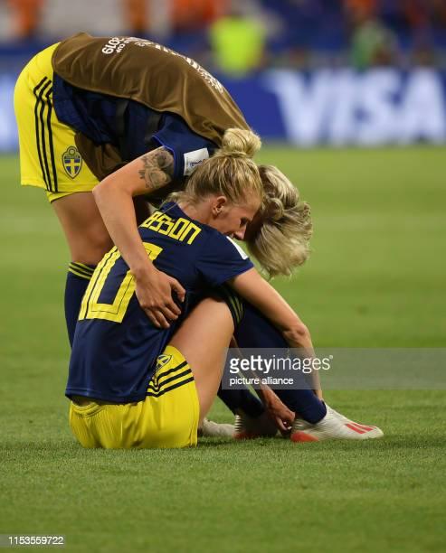 July 2019, France , Décines-Charpieu: Football, women: WM, Netherlands - Sweden, final round, semi-final, Stade de Lyon: Sweden's Lina Hurtig...