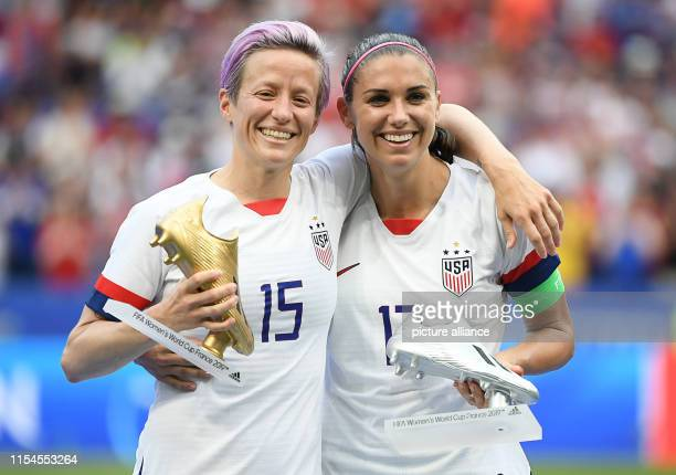 July 2019, France , Décines-Charpieu: Football, women: World Cup, USA - Netherlands, final round, final, Stade de Lyon: Megan Rapinoe from the USA...