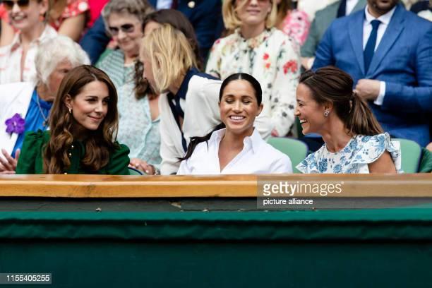 Tennis Grand Slam/WTATour Wimbledon singles women final S Williams Halep Kate Duchess of Cambridge Meghan Duchess of Sussex and Pippa Matthews follow...