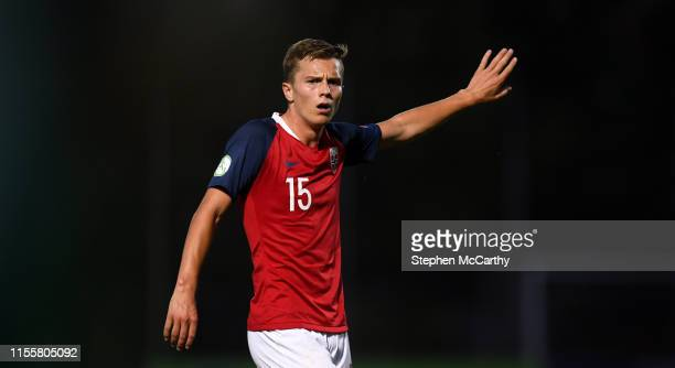 July 2019 Johan Hove of Norway during the 2019 UEFA European U19 Championships group B match between Norway and Republic of Ireland at FFA Academy...