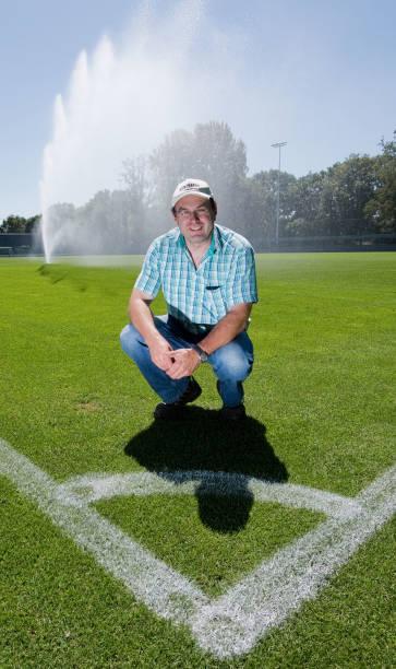 DEU: Greenkeepers Of The German Soccer League Fight Against Heat