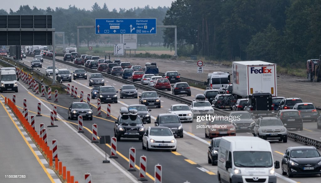 Lots of traffic on the A7 in Lower Saxony : News Photo