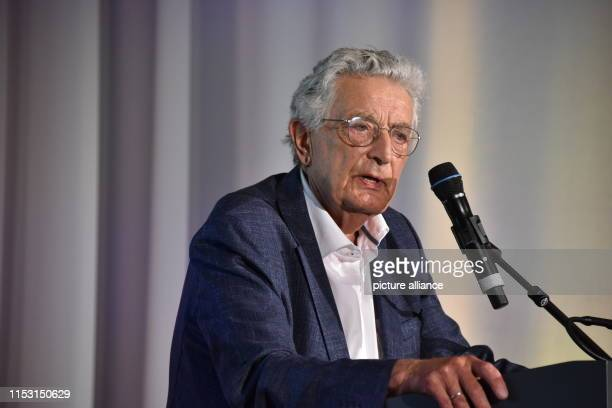 July 2019, North Rhine-Westphalia, Cologne: Gerhart Baum speaks at the presentation of the Cologne Culture Prize which is awarded for the 10th time...