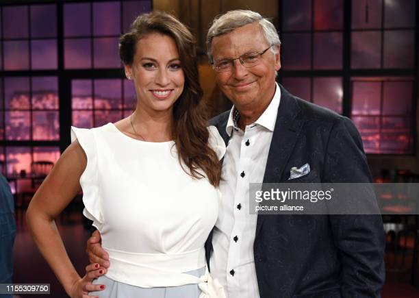 12 July 2019 North RhineWestphalia Cologne The politician Wolfgang Bosbach and his daughter Caroline Bosbach are in the studio after the recording of...
